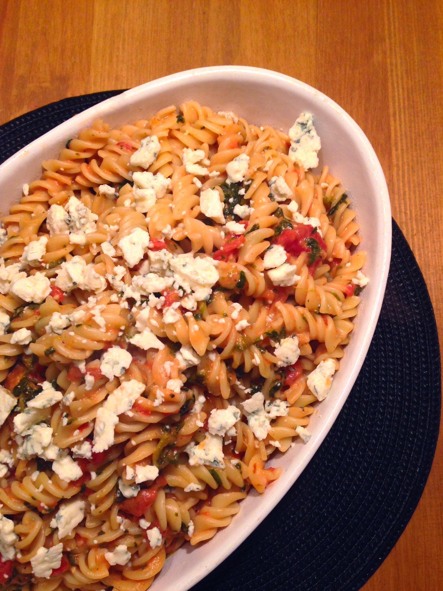 ... caught my eye though – Pasta with Tomato-Blue Cheese Sauce